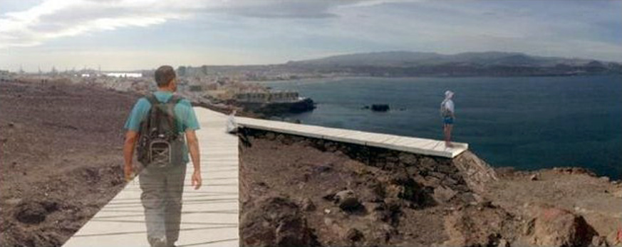 Se construirán dos nuevos miradores con vistas al Confital y a su bahía