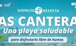 Ciudad de Mar inicia la campaña informativa vinculada al mensaje Las Canteras playa saludable libre de humos