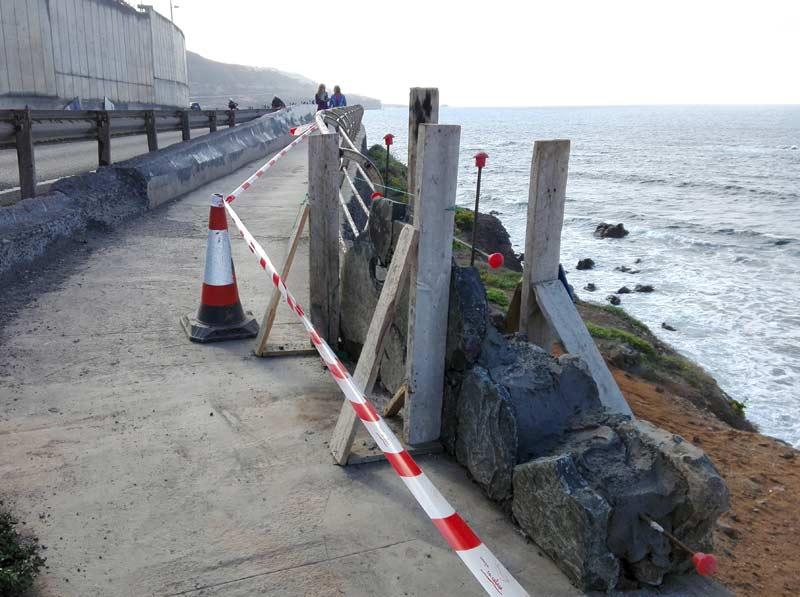 Se construye un muro para proteger el camino al Atlante