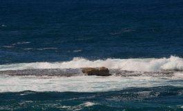 Aparece una piedra enorme sobre la Barra del Centro