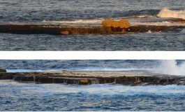 Desaparece la roca que las olas pusieron sobre la Barra del Centro