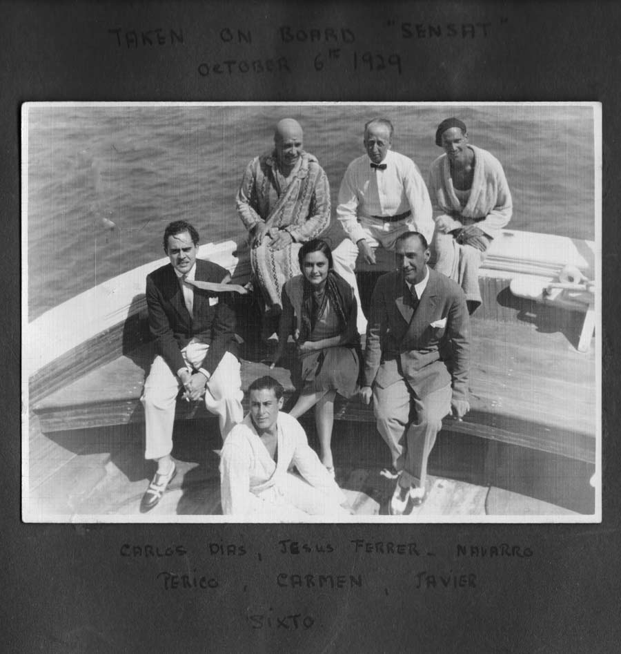 "Taken on board ""Sensat"" 1929"