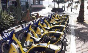 Las Canteras inaugura estación de bicicletas