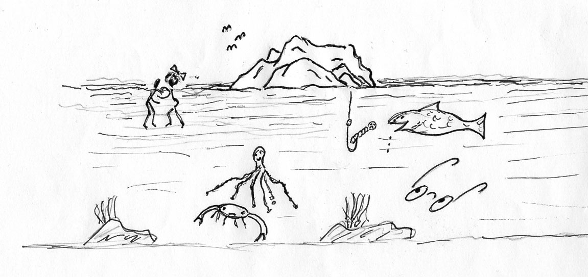 Odisea de unas gafas perdidas en el mar cerca de la Peña de la Vieja