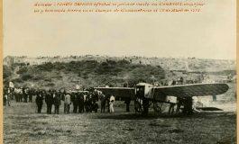 """Una réplica a tamaño real del """"Bleriot"""", primer avión que voló en Canarias, decorará la nueva rotonda de El Rincón."""