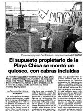 """La playa de Las Canteras en la hemeroteca """"Cuando la Playa Chica era privada """"."""