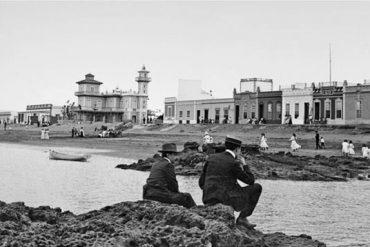 La playa de Las Canteras en 1910