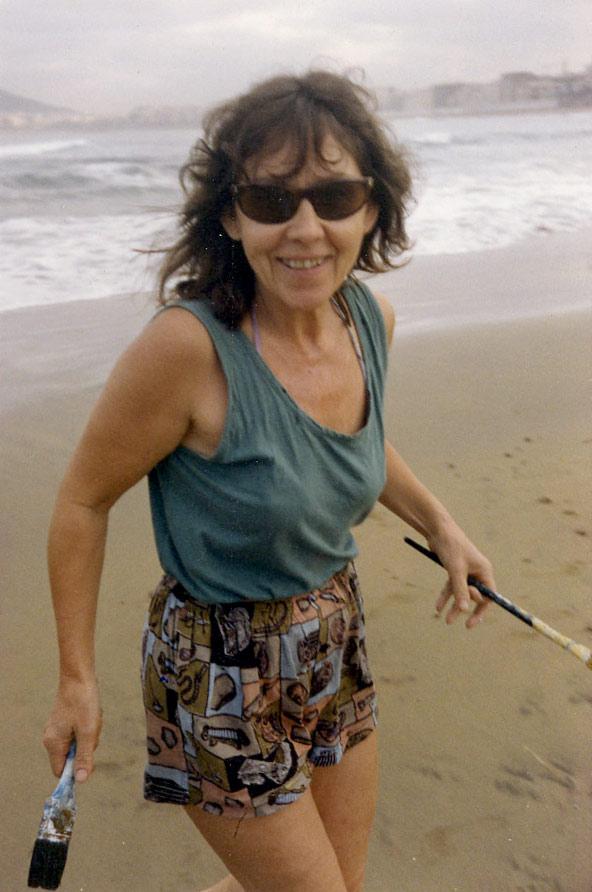 Hildegard Hahn: «El mar me hace sentir que el tiempo pasa»