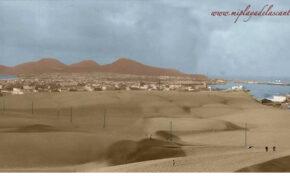 Foto coloreada: las dunas de Las Palmas de Gran Canaria