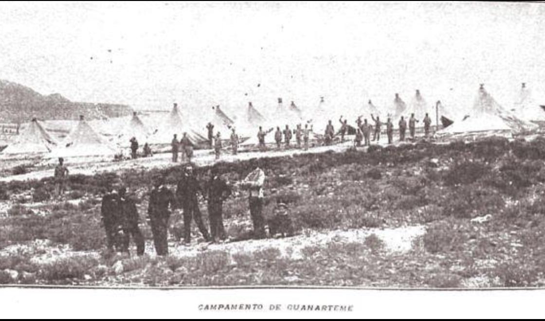 1898: campamento militar en Guanarteme