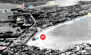 La playa de Las Canteras, 20 de marzo de 1935. Foto interactiva