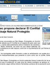 Ben Magec propone declarar El Confital como Paisaje Natural Protegido. ( www.canariasahora.com)