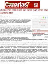 Las Canteras cambiará las luces por otras menos contaminantes. ( Canarias7.es)