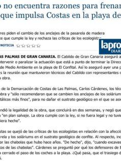 El Cabildo no encuentra razones para frenar la actuación que impulsa Costas en la playa de El Confital. ( Laprovincia.es)