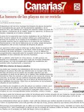 La basura de las playas no se recicla. ( Canarias7.es)