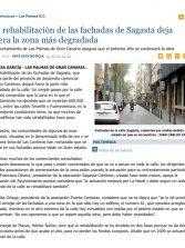 La rehabilitación de las fachadas de Sagasta deja fuera la zona más degradada. ( Laprovincia.es)