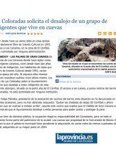 Las Coloradas solicita el desalojo de un grupo de indigentes que vive en cuevas. ( Laprovincia.es)