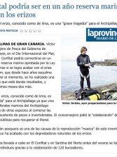 El Confital podría ser en un año reserva marina si se acaba con los erizos. ( Laprovincia.es)