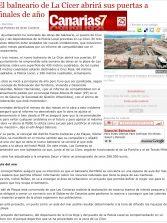 El balneario de La Cícer abrirá sus puertas a finales de año. ( Canarias7.es)