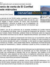 El convenio de venta de El Confital vence este miércoles ( www.canariasahora.es).