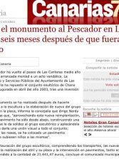 Reponen el monumento al Pescador en Las Canteras seis meses después de que fuera arrancado. ( Canarias7.es)