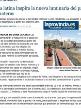 La vela latina inspira la nueva luminaria del paseo de Las Canteras. ( www.laprovincia.es)