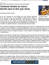 Las Canteras tendrá un nuevo alumbrado para el año que viene. ( www.canariasahora.es).