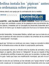 La edila Medina instala los ´pipican´ antes de cambiar la ordenanza sobre perros. ( www.laprovincia.es)