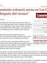 """El Ayuntamiento extraerá arena en Las Canteras """"antes o después del verano"""". ( Canarias7.es)"""