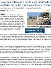 Costas cede y retrasa dos horas la extracción de arena en Las Canteras en los tramos que tienen terrazas. ( www.laprovincia.es)