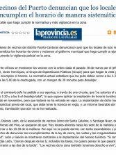 Los vecinos del Puerto denuncian que los locales de ocio incumplen el horario de manera sistemática. ( www.laprovincia.es)