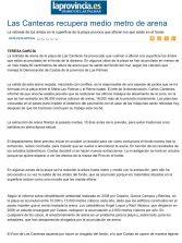 Las Canteras recupera medio metro de arena. ( www.laprovincia.es)