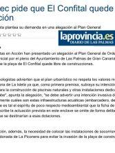 Ben Magec pide que El Confital quede libre de construcción ( www.laprovincia.es).