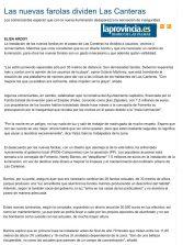 Las nuevas farolas dividen Las Canteras  ( www.laprovincia.es).