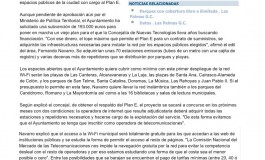 La Wi-Fi municipal permitirá navegar en la playa  ( www.laprovincia.es).