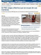 El PSC exige a Barrios que se ocupe de Las Canteras ( www.laprovincia.es).