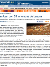 San Juan con 35 toneladas de basura ( www.laprovincia.es).