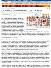 La romería viste de blanco Las Canteras ( www.laprovincia.es).