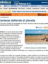Las Canteras defiende el planeta ( www.laprovincia.es).