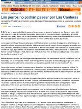 Los perros no podrán pasear por Las Canteras ( laprovincia.es).