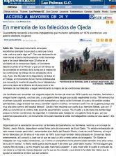 En memoria de los fallecidos de Ojeda ( laprovincia.es).