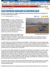 Las Canteras aplaude su bandera azul ( laprovincia.es).