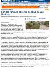 Sanidad renuncia al centro de salud de Las Canteras ( laprovincia.es).