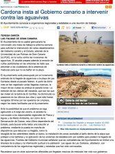 Cardona insta al Gobierno canario a intervenir contra las aguavivas  ( laprovincia.es).