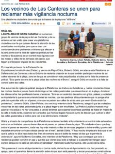 Los vecinos de Las Canteras se unen para reclamar más vigilancia nocturna ( laprovincia.es).