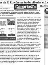 Las naves de El Rincón serán derribadas el 1 de marzo (www.canarias7.es).