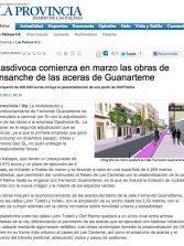 Casdivoca comienza en marzo las obras de ensanche de las aceras de Guanarteme ( laprovincia.es).