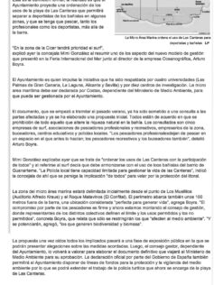 La Micro Área Marina ordena el uso de Las Canteras para deportistas y bañistas ( laprovincia.es).