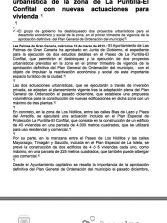 El Ayuntamiento impulsa la ordenación urbanística de la zona de La Puntilla-El Confital con nuevas actuaciones para vivienda (Nota de prensa).