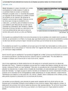 Un paseo decorado con anclas llevará al crucerista del Puerto a Las Canteras ( laprovincia.es).